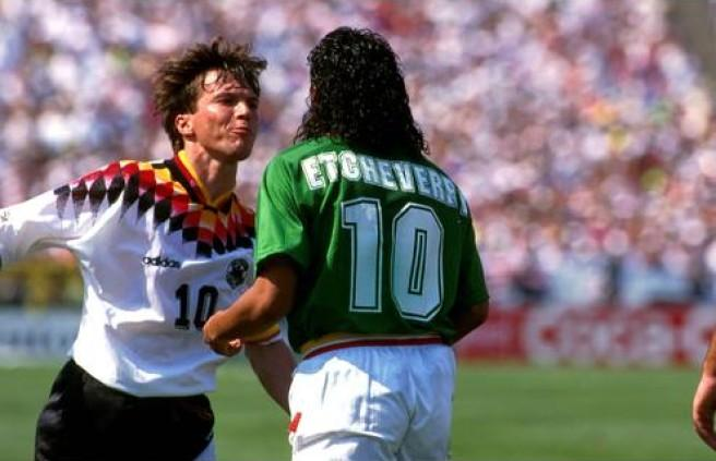 Etcheverry was the great hope of Bolivia in USA 94 but he was expelled soon.