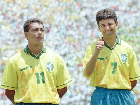 Romario and Bebeto formed a lethal front in Brazil.