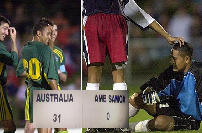Australia 31 - American Samoa 0, the biggest win in history