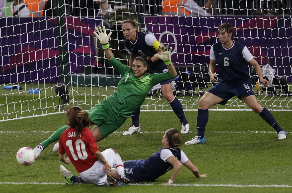Hope Solo, great goalkeeper and player of the most sought after by network.