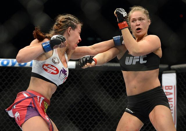 Miesha Tate vs Ronda Rousey.