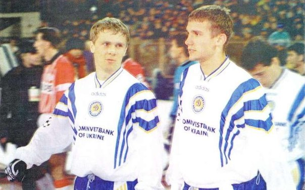 Shevchenko and Rebrov formed a formidable front.