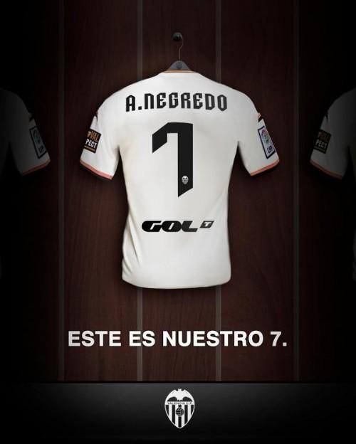 De esta manera ha anunciado el Valencia el fichaje de Negredo.