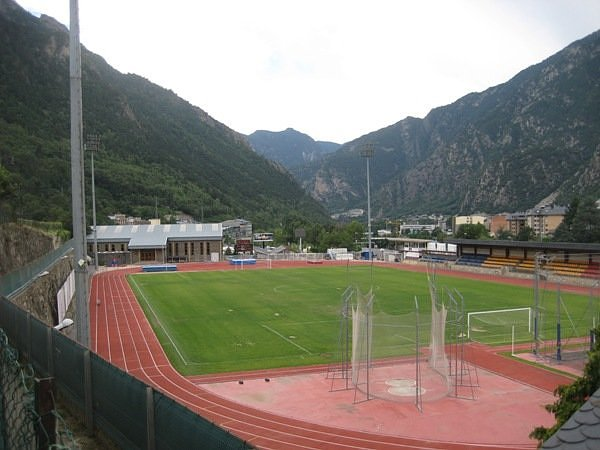 The Estadi Comunal d'Andorra la Vella seats 1.300 people. It is one of the two main.