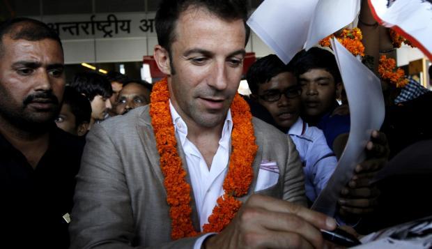 Del Piero será una de las estrellas de la nueva Superliga india.