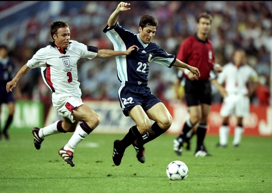 England and Argentina played a vibrant meeting in France 98.