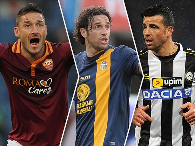 Totti, Toni and Di Natale still on top with almost 40 years.