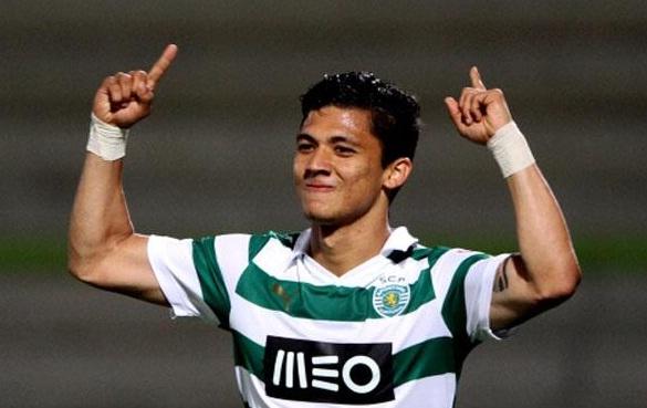 Freddy Montero con la zamarra del Sporting.