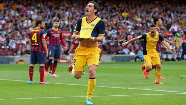 The goal of Godín confirmed the title of Atletico in the Nou Camp.