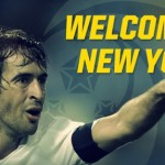 Raul in the wake of Pele and Beckenbauer in the Cosmos NY