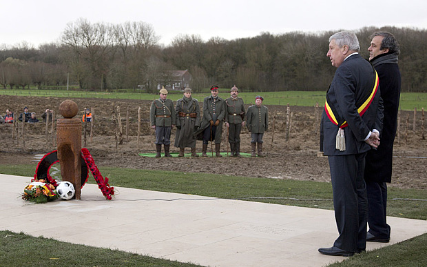 Platini went to Ypres at the Memorial Christmas Truce.