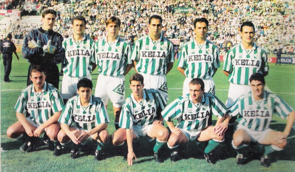 Kowalczyk en una alineación del Betis de 1995.