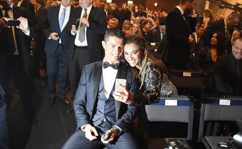 Marta became an selfie with Cristiano at the Ballon d'Or Gala 2014 where he was finally nominated but did not win.