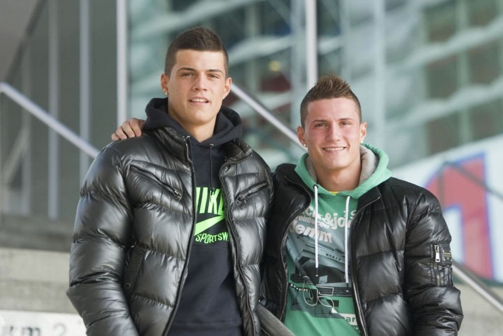 The Xhaka brothers.