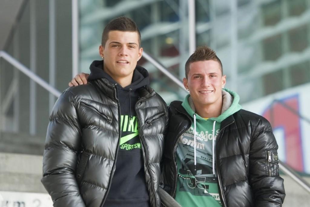 Los hermanos Xhaka.