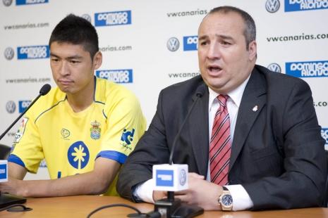 Kenji Fukuda jug;o en 3 equipos en España. El último fue Las Palmas.