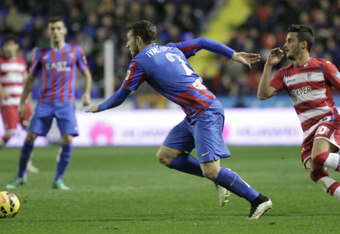Iván López ha entrado con fuerza en el Levante UD.