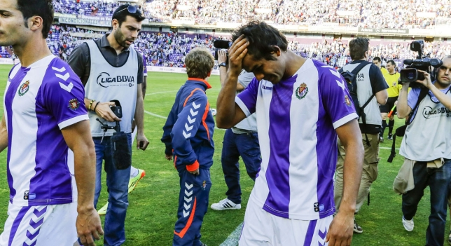 Real Valladolid ascended in 2012 and he went down again in 2014 for the third time in a decade.