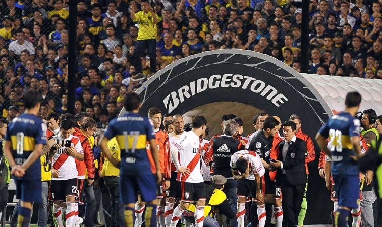 The Boca-River ended in serious incidents and the expulsion of Boca Libertadores.