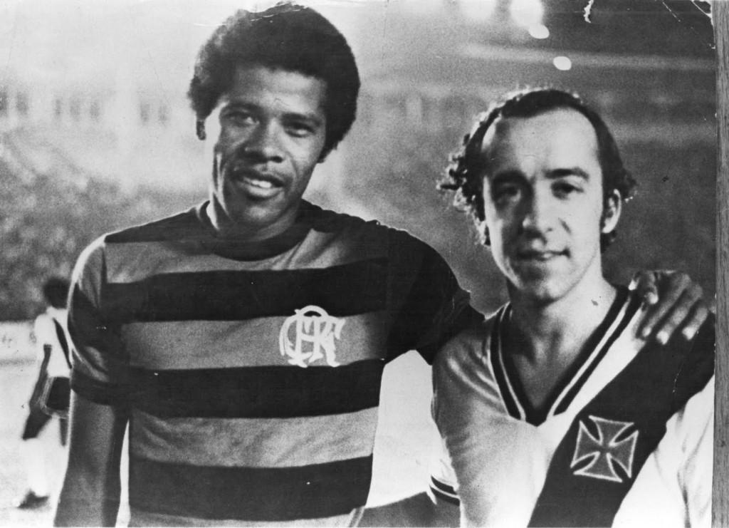 Dadá Maravilha con Tostao. Foto: www.flamengoantigo.com.br