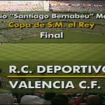 La final de Copa de 1995 se jugó en dos días diferentes