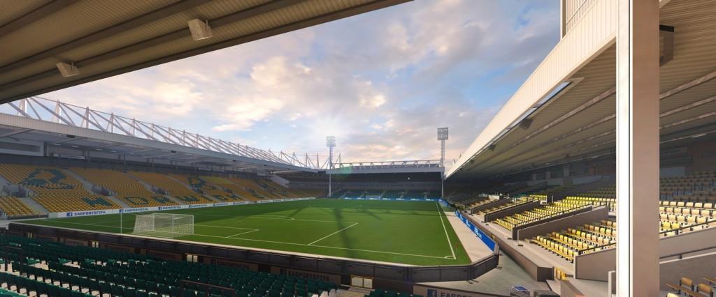 Carrow Road, el estadio del Norwich City. Foto: Easports.com