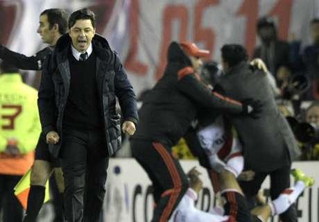 Marcelo Gallardo es la imagen del triunfo de River Plate.