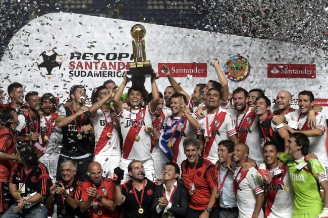 River won 2015 before the Libertadores Recopa Sudamericana. Photo: vanguardia.com