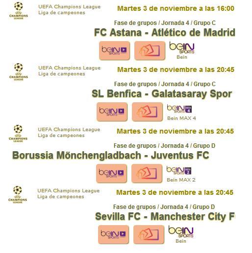 Jornada del martes champions 1