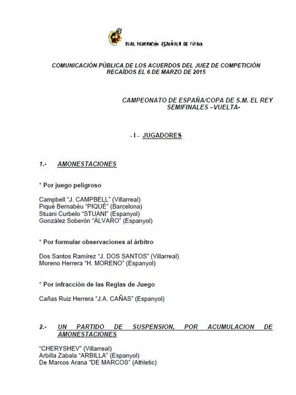 La prueba de la sanción a Cherysev.
