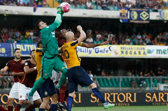 Hellas Verona is sunk to the bottom of the table in Italy.