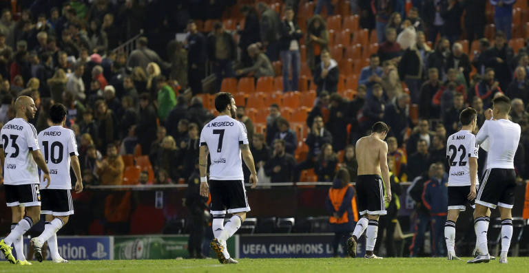 Valencia, The biggest disappointment of the first round of the League