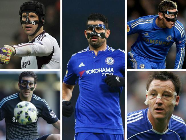 El Chelsea de los futbolistas con mascara