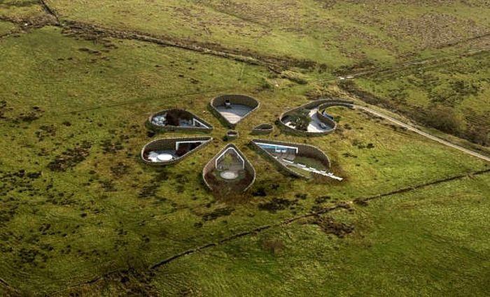 Gary Neville das ökologische Haus gebaut in Manchester.