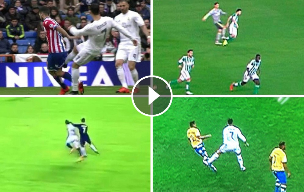 It was the only. CR7 assaults were repeated for several games without any punishment.