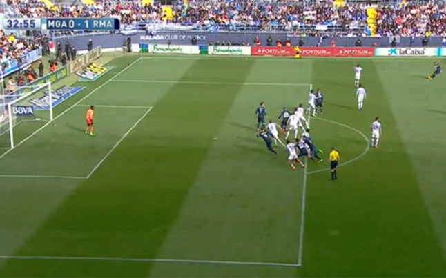 Cristiano scored offside in Málaga.