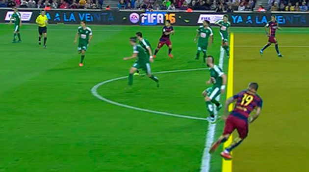 This goal was also up to the scoreboard Barcelona.