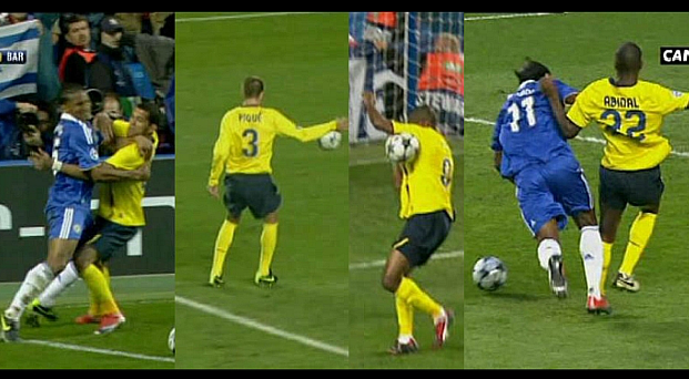 Chelsea still remember this match where the referee favored the Barcelona.
