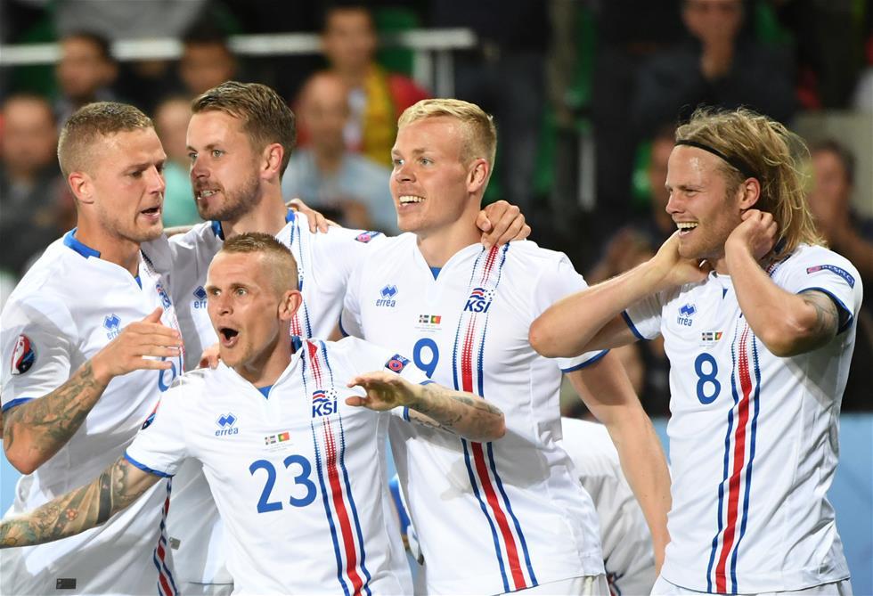 Islandia celebró a lo grande su primer punto en una Eurocopa.