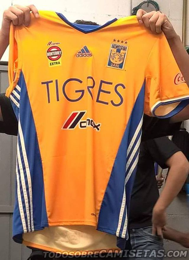 Ésta es la nueva camiseta de Tigres filtrada de manera no oficial. El diseño no varía mucho de los últimos. Foto: todosobrecamisetas.net