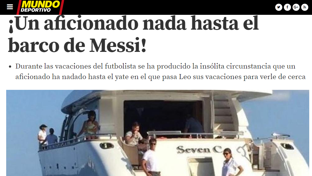 Unusual! Amazing! Newsmaker! Mundo Deportivo was clear, this news was.