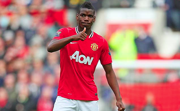 Pogba in its first stage in the United. Now is the most expensive signing in history.