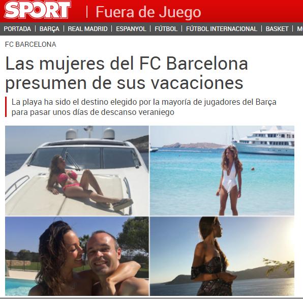 Otra muestra de noticia deportiva indispensable. Foto: Sport