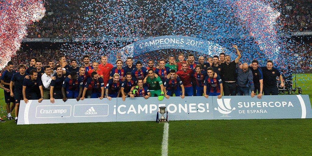 El Barça, el rey de la Supercopa