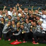 All winning gold in women's football in the Olympics