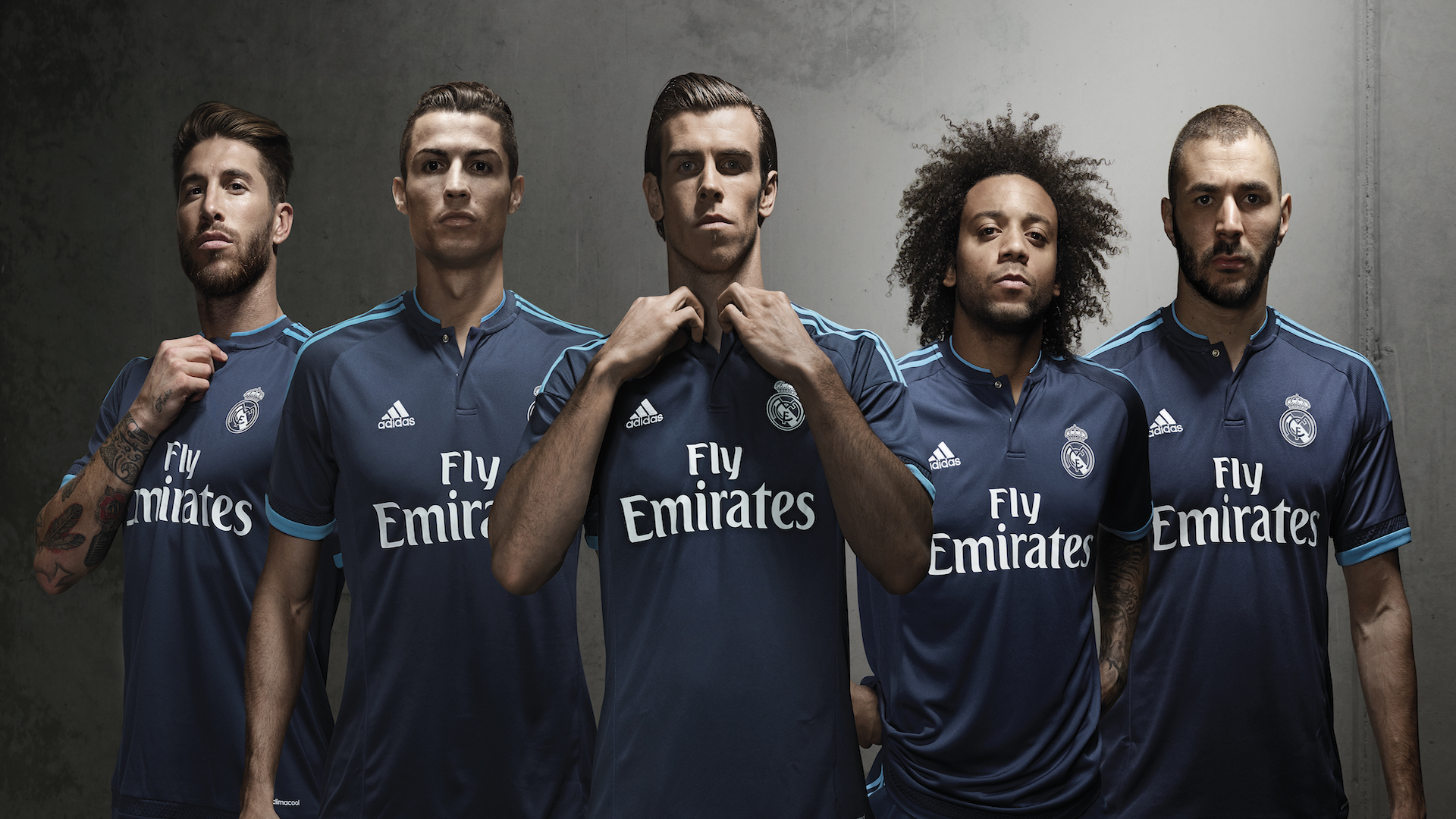 Las diez últimas camisetas del Real Madrid