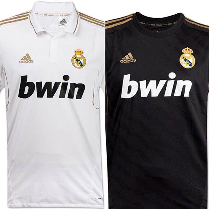 These were the shirts of Real Madrid for the season 2011/12.