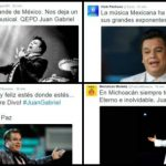 Mexican football joins the grief over the death of Juan Gabriel