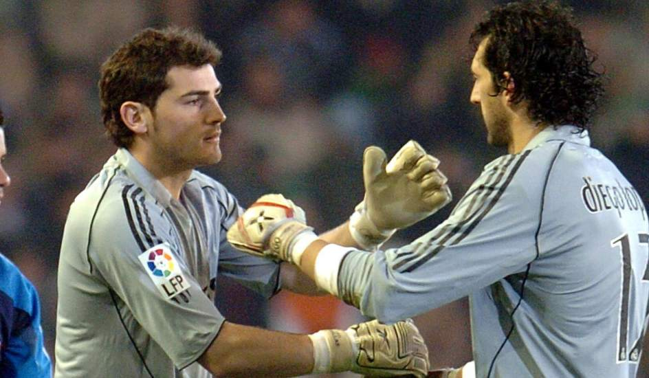 Diego Lopez with Casillas in the first stage at Real Madrid before heading out to Villarreal and Sevilla.