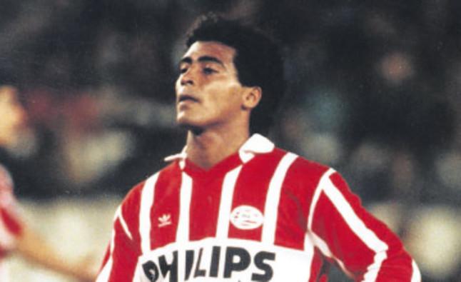 Romario con la zamarra del PSV a finales de los 80, principios de los 90.